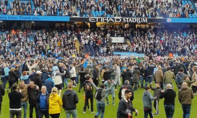 Manchester City Pitch Invasion